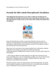 Premiär för MSC-märkt Östersjötorsk i frysdisken