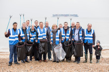 Openreach Heads to Felixstowe Beach to Support the Great British Spring Clean
