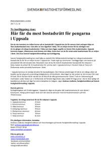 Ny kartläggning visar: Här får du mest bostadsrätt för pengarna  i Uppsala