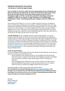 Premiär för Kropp Challenge - ett äventyr i Göran Kropps fotspår