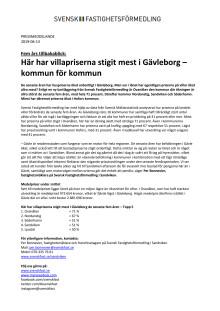 Fem års tillbakablick: Här har villapriserna stigit mest i Gävleborg – kommun för kommun