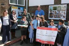 Children's art bonds station with village community