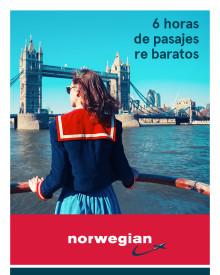 Flash Sales: Norwegian ofrece este viernes descuentos de hasta 20 por ciento, entre las 12 y las 18 horas