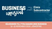 Pressinbjudan till Elmia Subcontractor 12-15 nov- Industrins starkaste arena