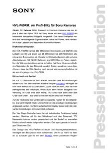 HVL-F60RM: ein Profi-Blitz für Sony Kameras
