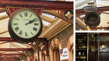 Victorian station clock restored to pride of place at Great Malvern