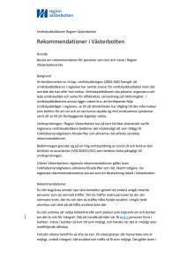 Rekommendationer i Västerbotten