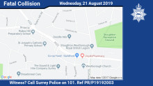 Witnesses sought after man dies following collision in Aldershot Road, Guildford