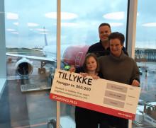 Norwegian fejrer passager nummer 500.000 på langdistance i København