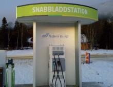 Premiär för Härjedalens första snabbladdstation för elbilar