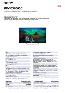 KD-55X8505C von Sony