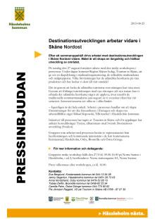 Pressinbjudan - Fortsatt arbete med destinationsutvecklingen av Skåne Nordost