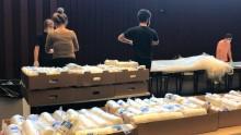 7 000 militära kemskyddsdräkter görs om till skyddsförkläden på Södertälje Science Park