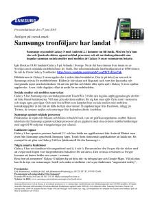 Samsungs tronföljare har landat