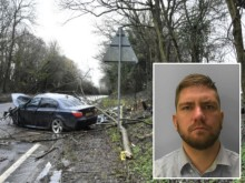 Dangerous drug driver in Hooe crash jailed for three years