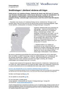 Värdebarometern 2017 Jämtlands län