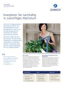 Gemanagte ESG-Depotmodelle von Zurich im Überblick