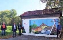 Aktion für eine schönere Kommune - Bayernwerk schafft neuen Blickfang im Markt Küps