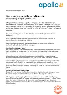 Danskerne hamstrer julirejser