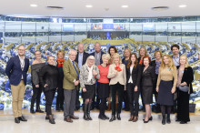 Vi besökte  Europas hjärta, EU parlamentet i Bryssel.
