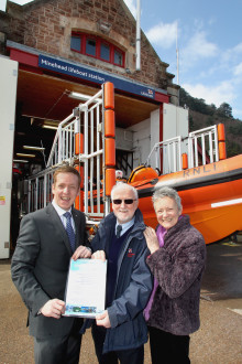 Fred. Olsen Cruise Lines recognises RNLI's 'Unsung Station Hero' with sunshine cruise holiday prize