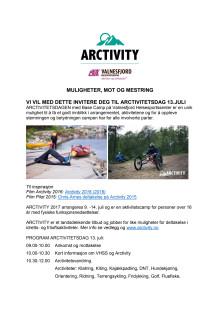 Invitasjon til Arctivitetsdagen 13.juli 2017