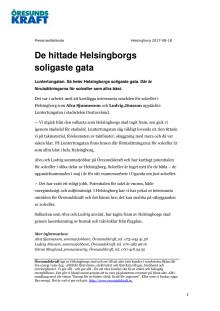 De hittade Helsingborgs soligaste gata