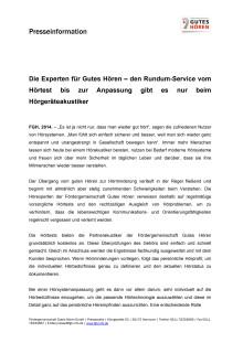 Die Experten für Gutes Hören – den Rundum-Service vom Hörtest bis zur Anpassung gibt es nur beim Hörgeräteakustiker