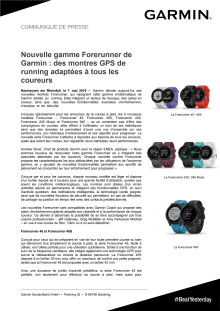 Nouvelle gamme Forerunner de Garmin : des montres GPS de running adaptées à tous les coureurs