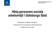 Hbtq-personers arbetsmiljö i Göteborgs Stad