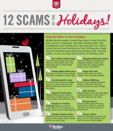 """McAfee Spotlights The """"12 Scams of Christmas"""" To Keep Consumers' Digital Lives Safe"""
