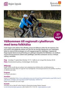 Inbjudan till regionalt Cykelforum