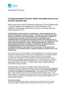 Lichtgeschwindigkeit für Büren: Sieben Ortschaften kommen ans Deutsche Glasfaser Netz