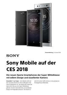 Sony Mobile auf der CES 2018
