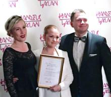 ThorenGruppen ger pris till Årets unga stjärnskott på Handelsgalan