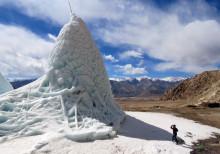 Konstgjorda glaciärer minskar vattenbrist i Indien