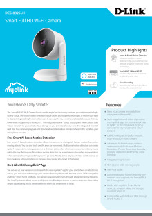 Datablad, D-Link DCS-8325LH Smart Full-HD Wi-Fi kamera