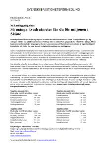 Ny kartläggning visar: Så många kvadratmeter får du för miljonen i Skåne