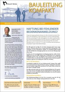 BAULEITUNG KOMPAKT – der neue Infodienst für Bauleiter