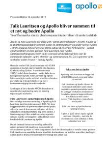 Falk Lauritsen og Apollo bliver sammen til et nyt og bedre Apollo
