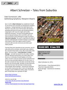 Albert Schnelzer - Tales from Suburbia - BIS-2313 - presentation