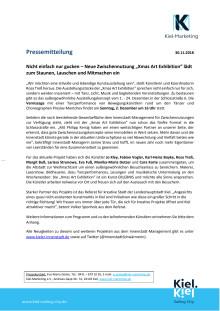 Neue Zwischennutzung im Kieler Schlossquartier -  Xmas Art Exhibition