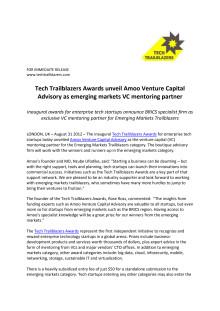 Tech Trailblazers Awards unveil Amoo Venture Capital Advisory as emerging markets VC mentoring partner