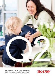 Ikano Bostad Stockholm Holding AB (publ) Delårsrapport 1 januari- 30 juni 2016