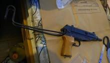 Skorpion submachine gun and ammunition recovered