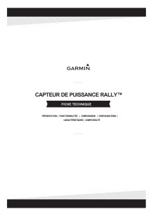 Fiche technique Garmin RALLY RK_RS_XC