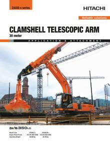Broschyr Delvator Hitachi ZX350LC-6 CTA Clamshell telescopic 30M