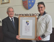 Freedom of Moray bestowed on Heather Stanning