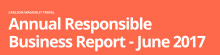 Fifth annual Carlson Wagonlit Travel Responsible Business report shows accelerated success