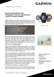 Nouvelle Garmin fēnix 5 Plus: cartographie, Pulse Ox, paiement sans contact et musique intégrés